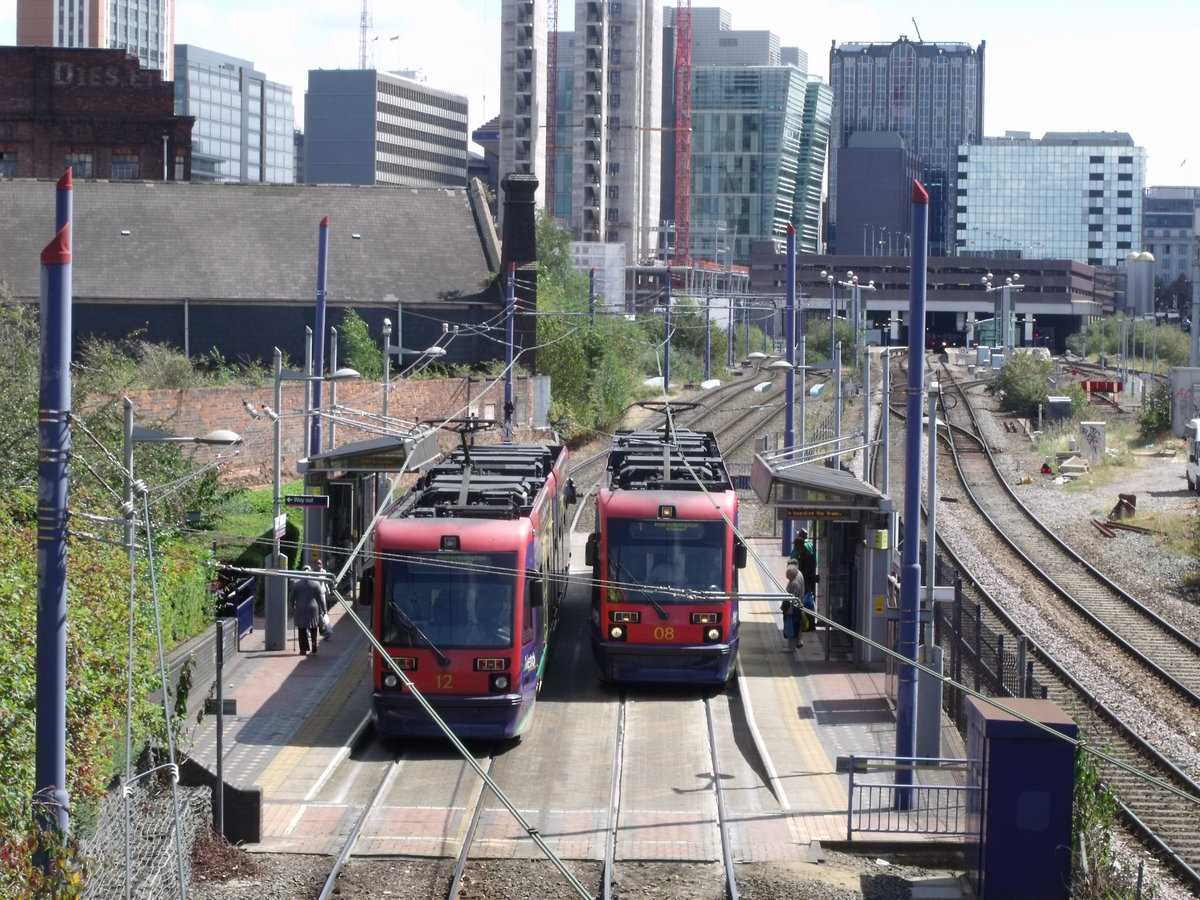 T69 trams at St Pauls Tram Stop