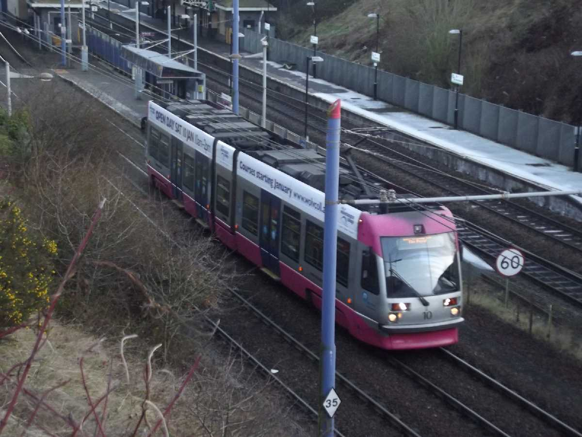 Tram 10 at The Hawthorns Tram Stop