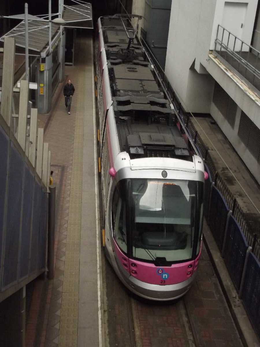 Urbos 3 tram at the Old Snow Hill Tram Stop